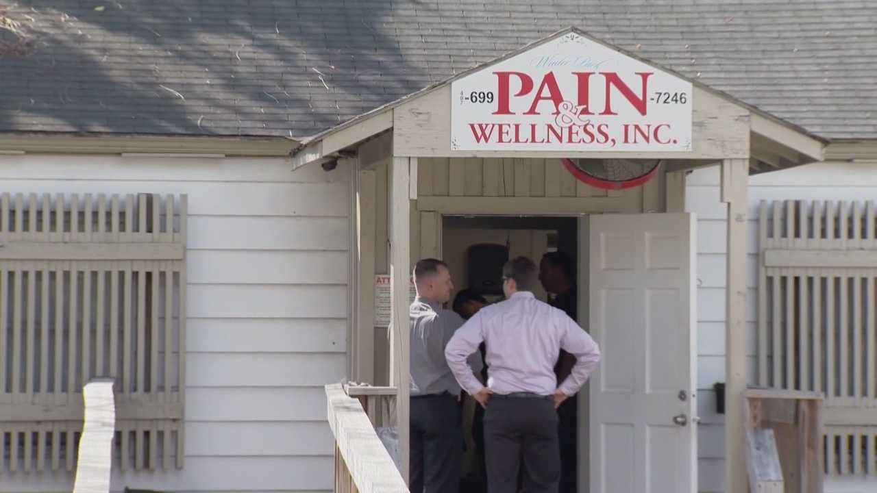 Only WESH 2 was there when a local pain clinic was raided for the second time in a month.