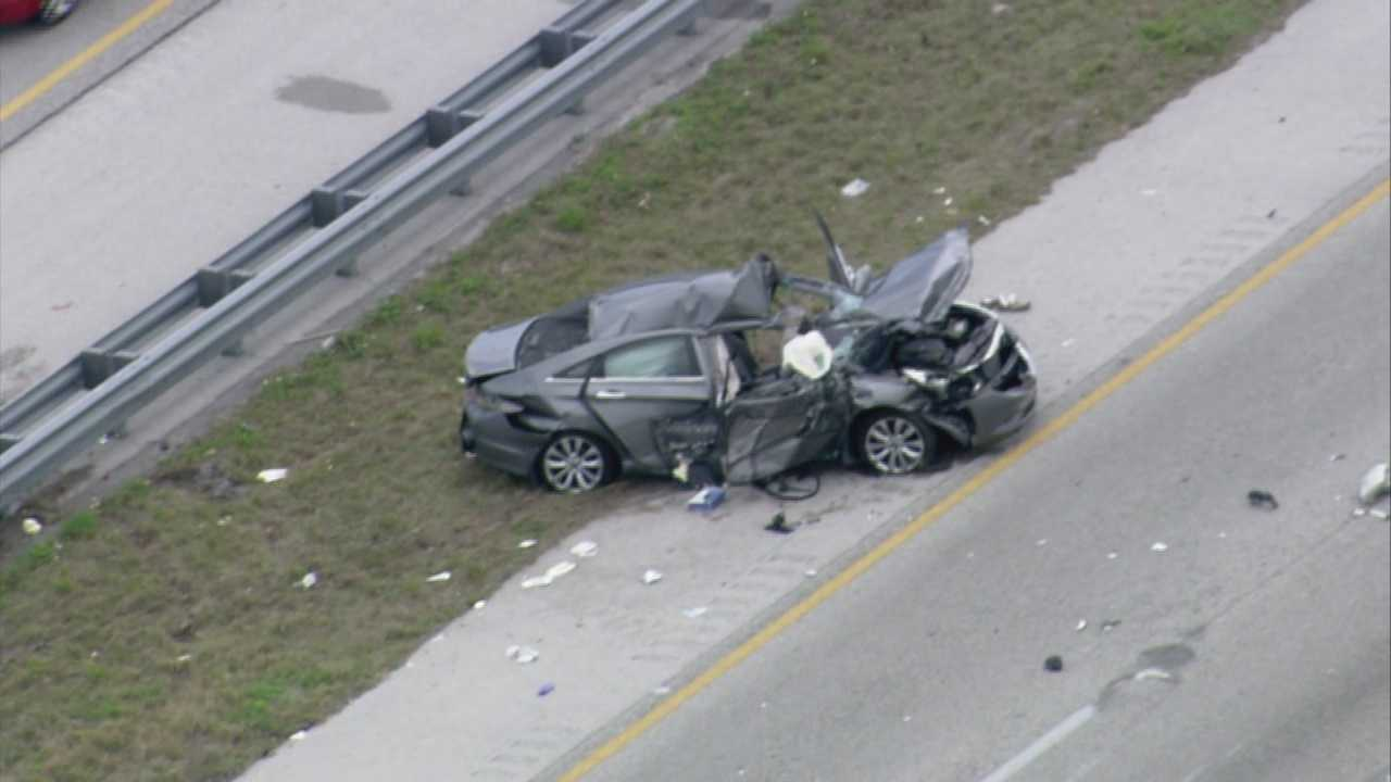 A fatal crash on Interstate 95 in Rockledge shut down the southbound lanes Wednesday afternoon.