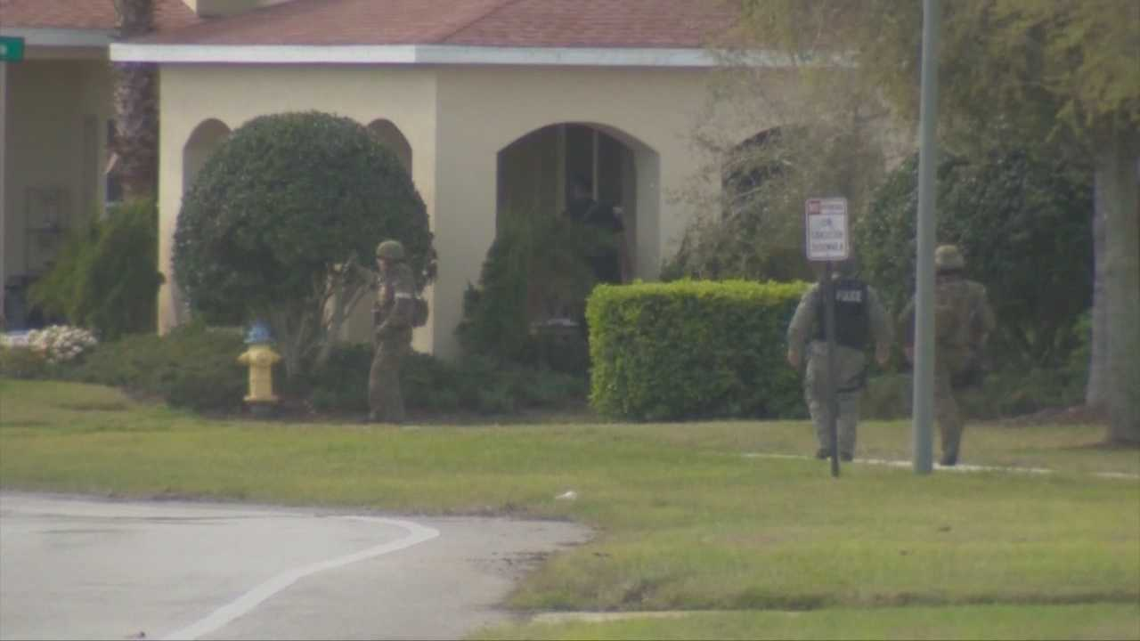 The SWAT team is working a standoff with an alleged gunman at Venetian Bay in New Smyrna Beach, according to officials.