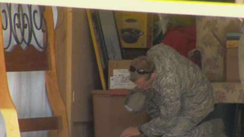 The Patrick Air Force Base Bomb Squad is called to a garage sale after an artillery shell is found.