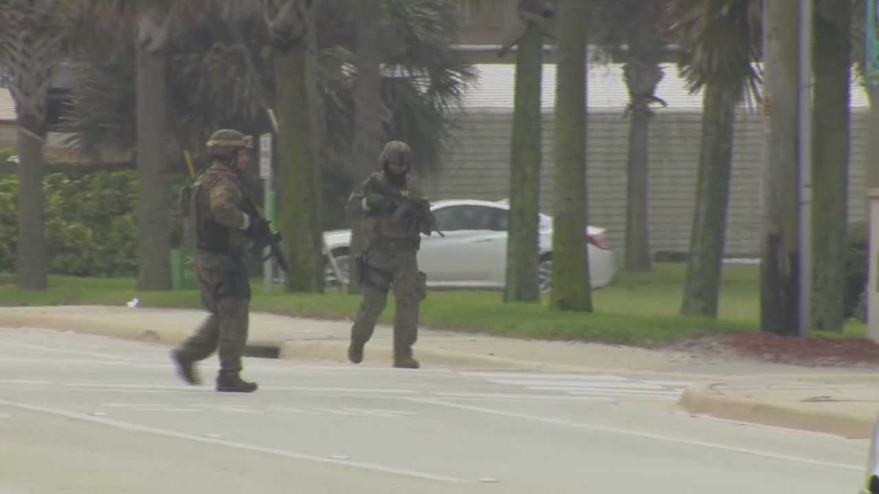 A caller claimed Wednesday that there were multiple bombs around a business in New Smyrna Beach, according to police.