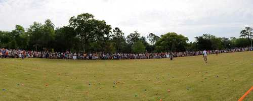 4. 61st Annual Easter Egg hunt in Winter ParkWhen: Saturday, 9:30 a.m.Where: New York Ave & Morse Blvd, Winter Park, FL 32789Cost: FREEThe city of Winter Park will be hiding over 10,000 eggs throughout Central Park for kids up to 10 years old to find, and for any children who end up empty handed, there's a designated candy area for them to enjoy special treats.