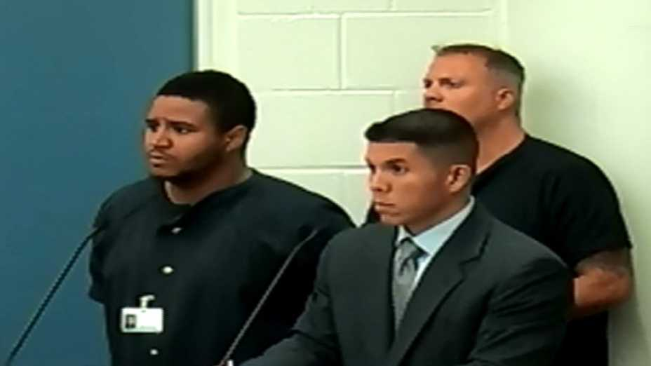 The man who is accused of beating up an Orange County middle school teacher appeared in court Saturday.