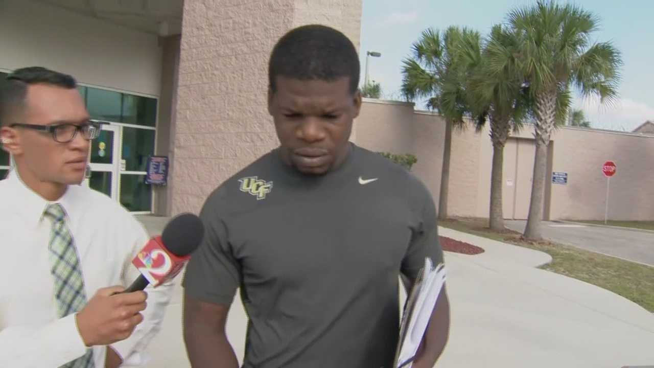 Former University of Central Florida running back Kevin Smith was arrested on campus Wednesday morning.