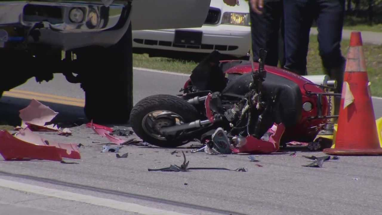 A 20-year-old woman is dead after she lost of control of her motor scooter and slammed into a pickup truck being driven by a deputy in Volusia County on Friday, according to the Daytona Beach Police Department.
