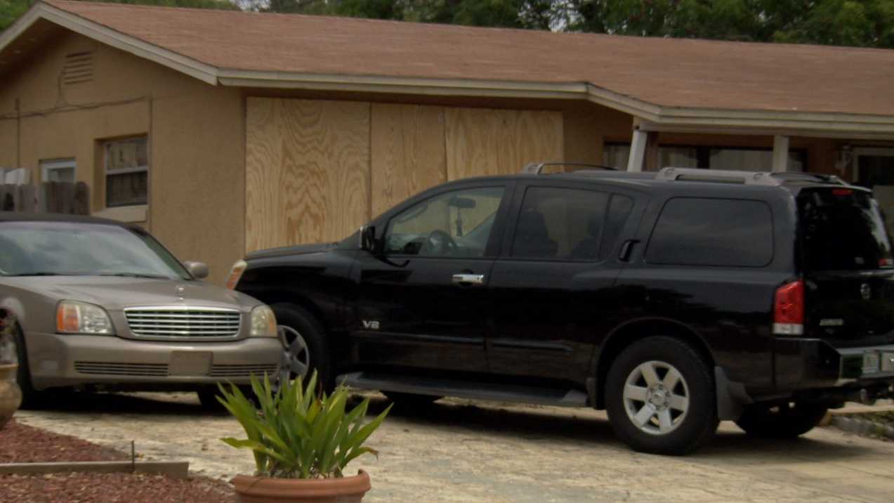 A house had to be boarded up after a vehicle crashed into a home near Altamonte Springs early Saturday morning. The Florida Highway Patrol is trying to find the drivers, who fled from the scene.