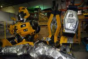 Transformer made from car parts