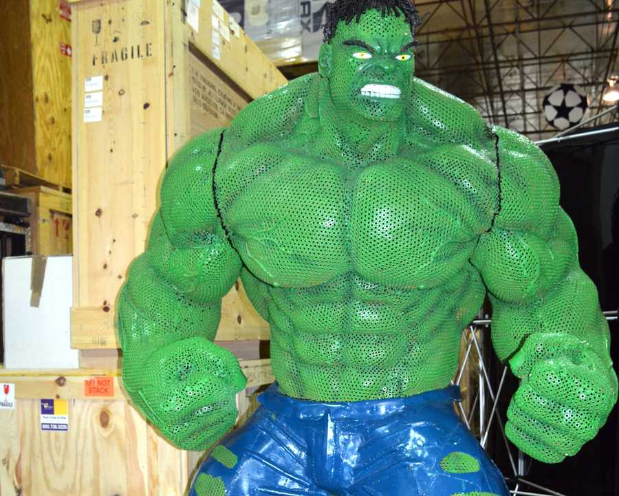 Hulk made from bolts