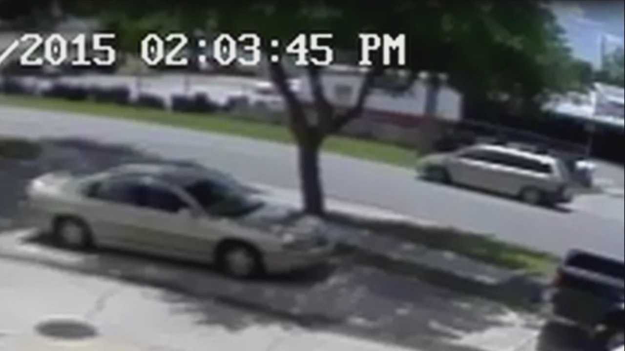 A grandmother was pushing her grandbaby in a stroller when a someone hit them and took off.