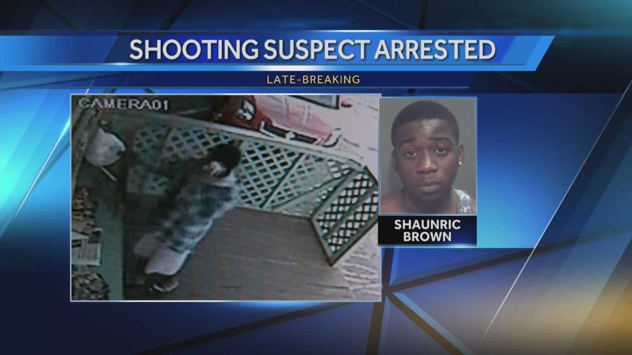 Deputies said Shaunric Brown was taken into custody yesterday outside Atlanta, Georgia after trying to escape through a window.