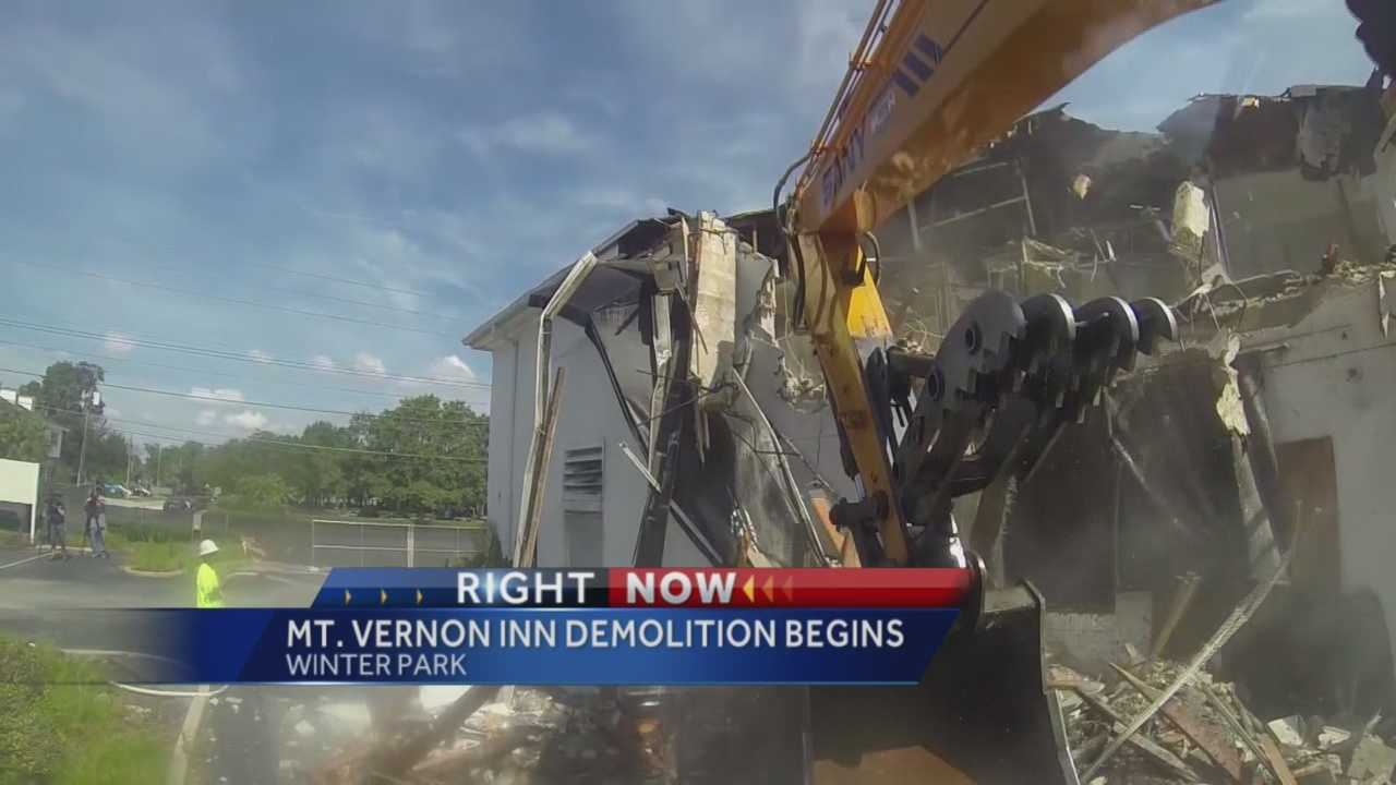 The Mount Vernon Inn is being demolished to make room for a new luxury boutique project.