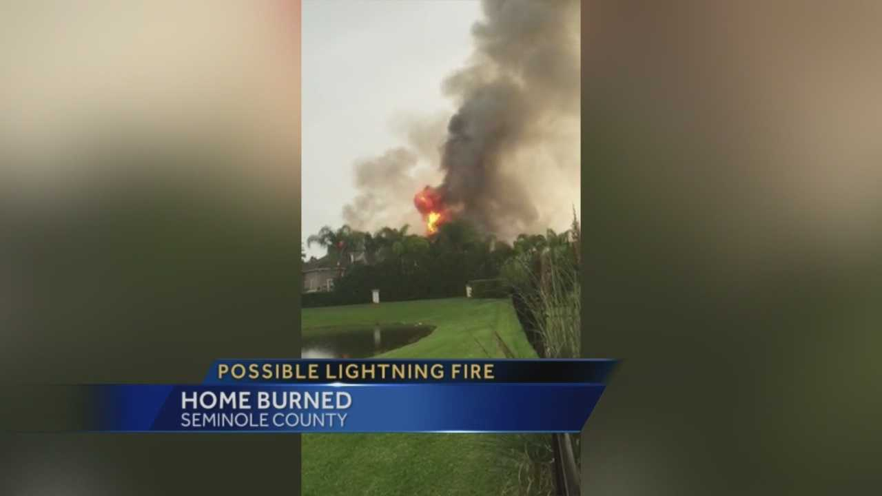 A Seminole County home was damaged by fire Tuesday evening.