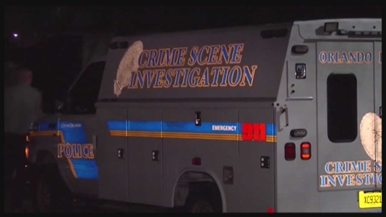 Orlando police are interviewing a homeowner who confronted and shot an intruder early Sunday.