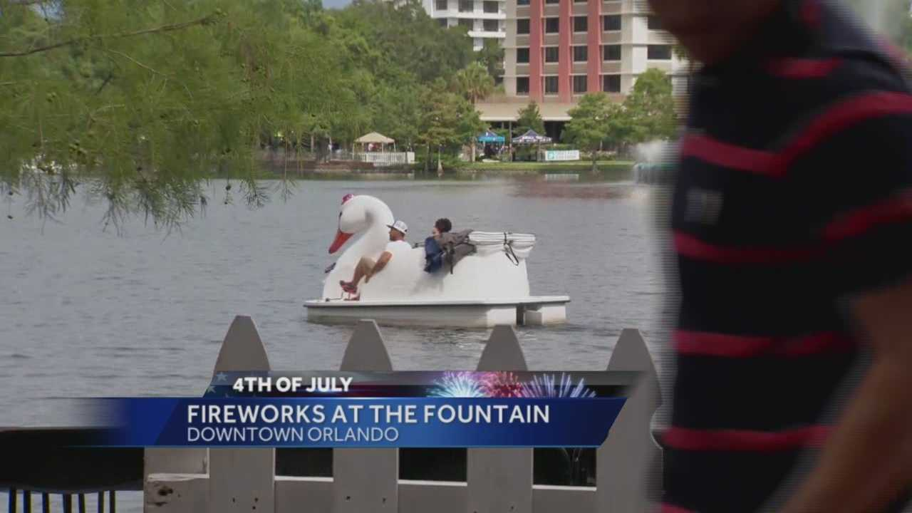 Thousands packed downtown Orlando Saturday for the annual Fireworks at the Fountain show.