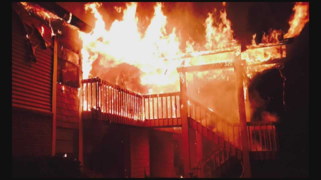 A Fourth of July cookout is blamed for a large apartment fire in Sanford early Sunday morning.