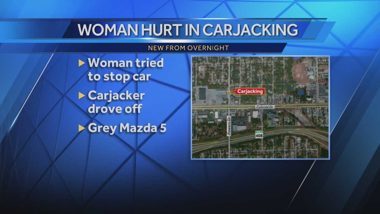 Woman injured during carjacking