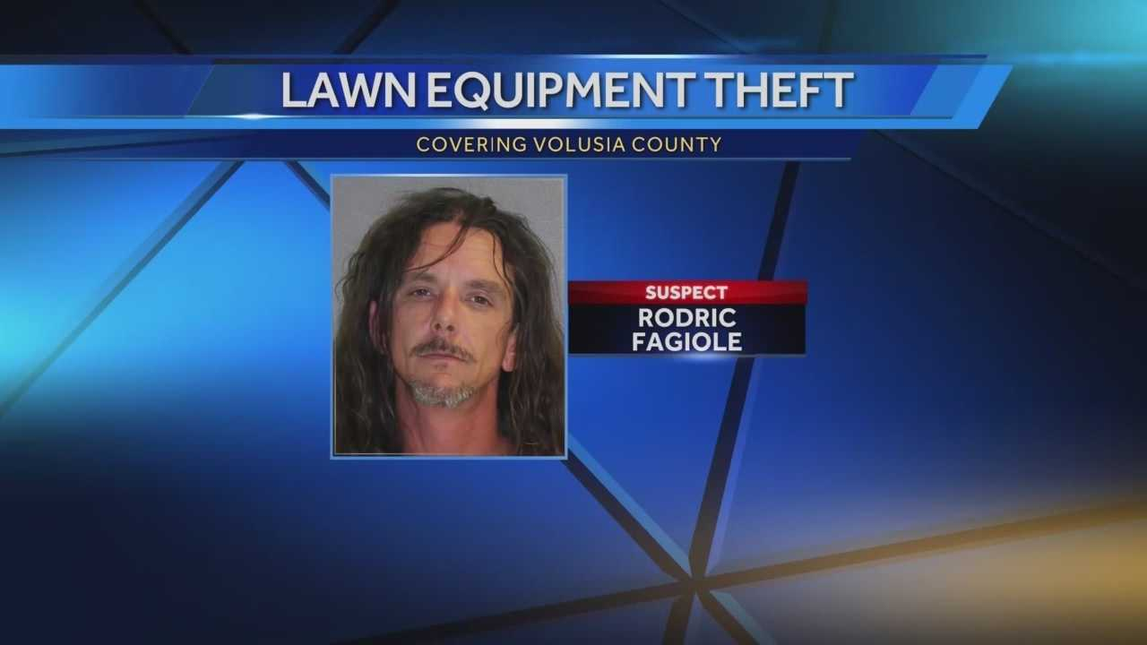 A Volusia County man is accused of stealing more than $120,000 worth of equipment from a commercial lawn service company. Claire Metz (@clairemetzwesh) has the story.