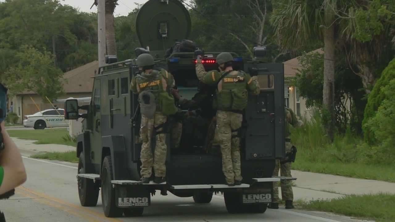Deputies and SWAT officers complete an hours-long search in a Brevard County neighborhood. They've been at the home connected to the person of interest in a pregnant woman's murder. Chris Hush (@ChrisHushWESH) has the story.
