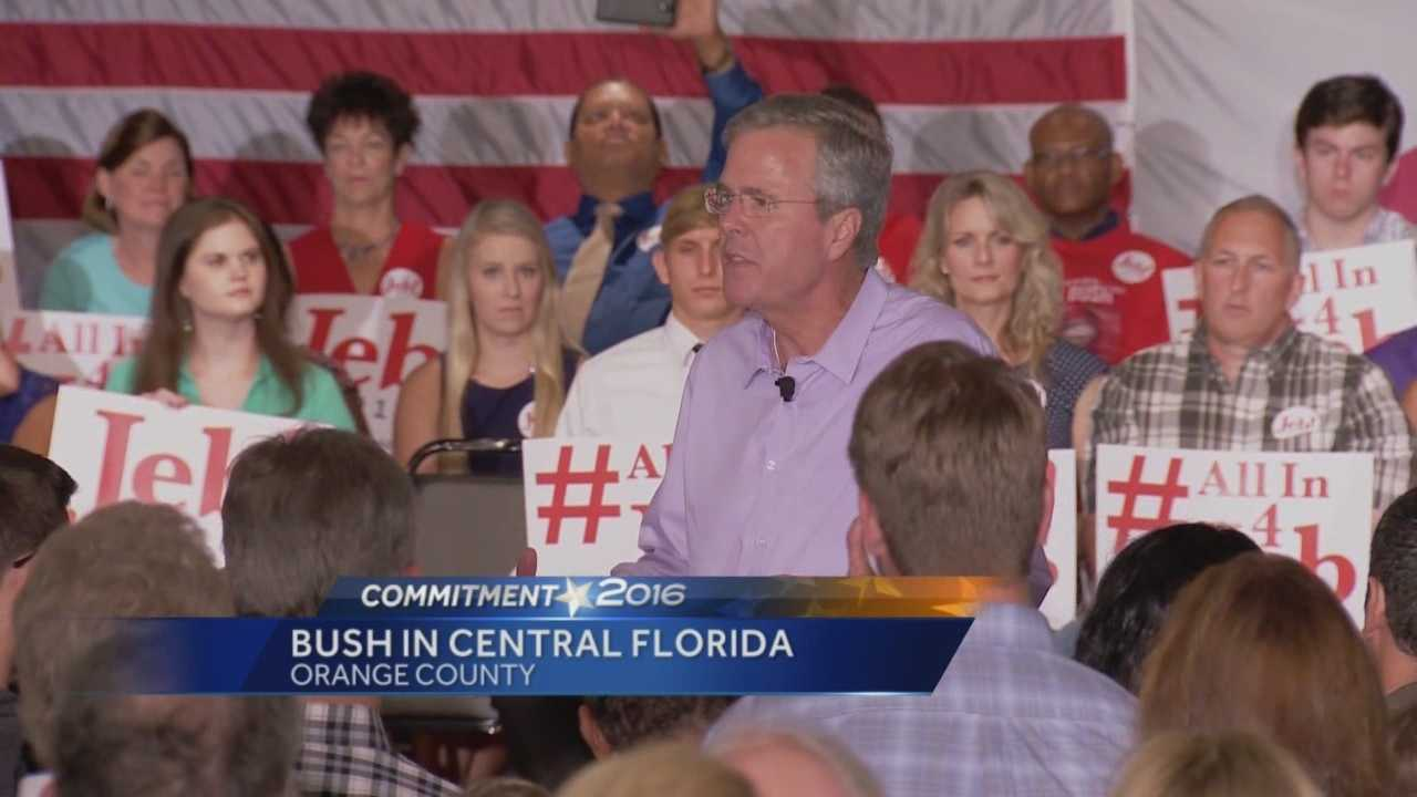The man who is taking the lead in Florida polls in the GOP presidential race is touring Central Florida.