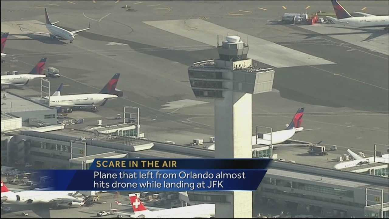 A Delta airplane that left from Orlando International Airport narrowly avoided hitting a drone.