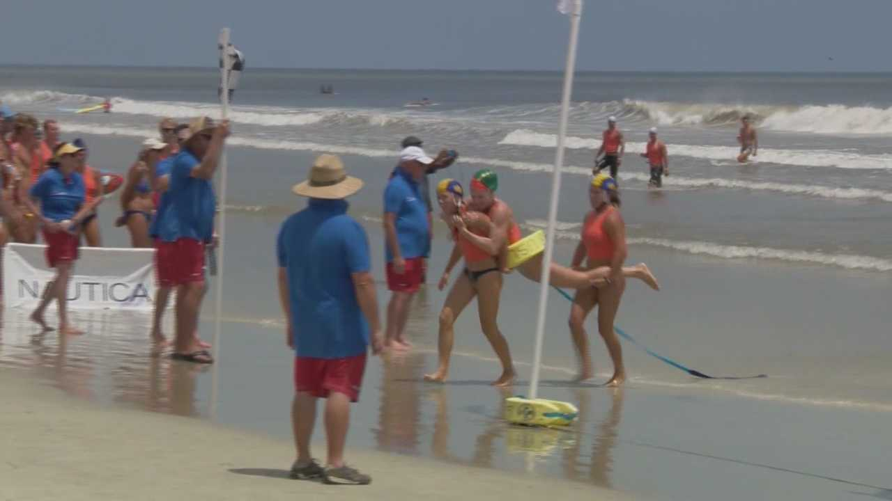 Lifeguards raced into the water along the Volusia County shore line during the 2015 Nautica USLA National Lifeguard Championships held in Daytona Beach. Claire Metz (@clairemetzwesh) has the story.