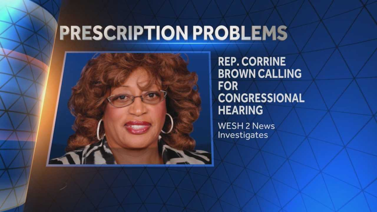 Representative Corrine Brown said she will call for a congressional hearing to investigate the prescription access problem. Matt Grant (@MattGrantWESH) has the story.