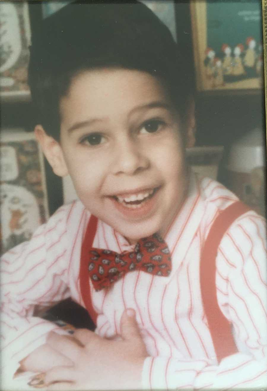 Try guessing who this dapper boy is ...