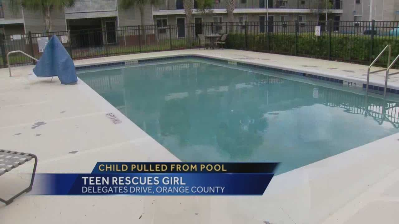 A 15-year-old is being credited with saving a young girl's life at a local motel pool. Chris Hush (@ChrisHush) has the story.
