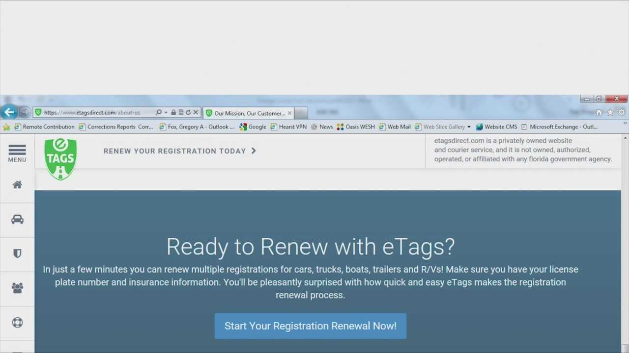 Documents show that the Attorney General's Office is investigating an online company that claims it's helping you to renew the tag on your car. Greg Fox (@GregFoxWESH) has the story.