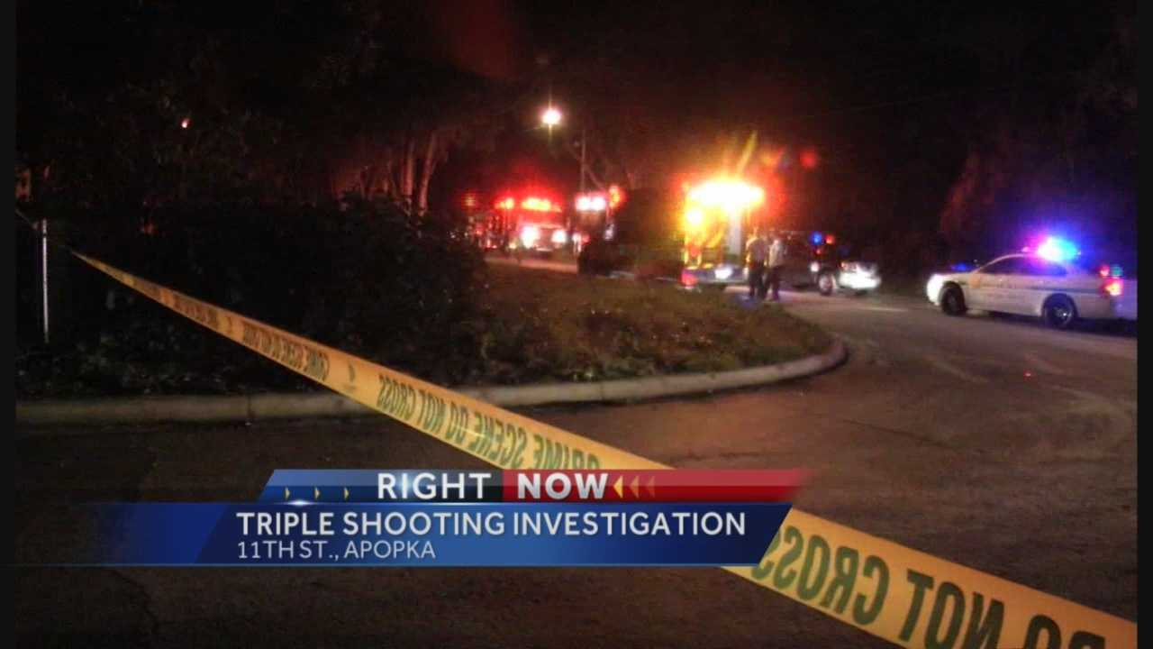 Orange County sheriff's deputies are investigating a triple shooting in Apopka.