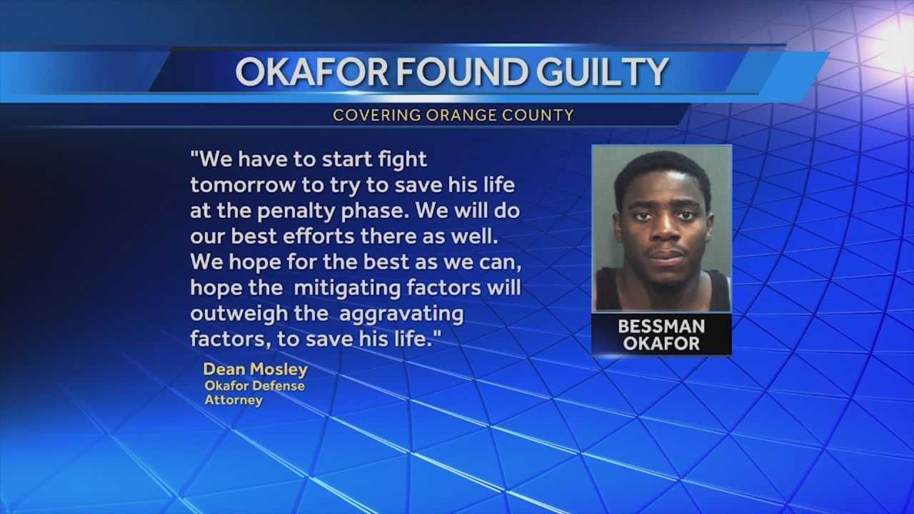 After about eight hours of deliberations, a jury returned guilty verdicts in the Bessman Okafor murder trial. Gail Paschall-Brown (@gpbwesh) has the story.