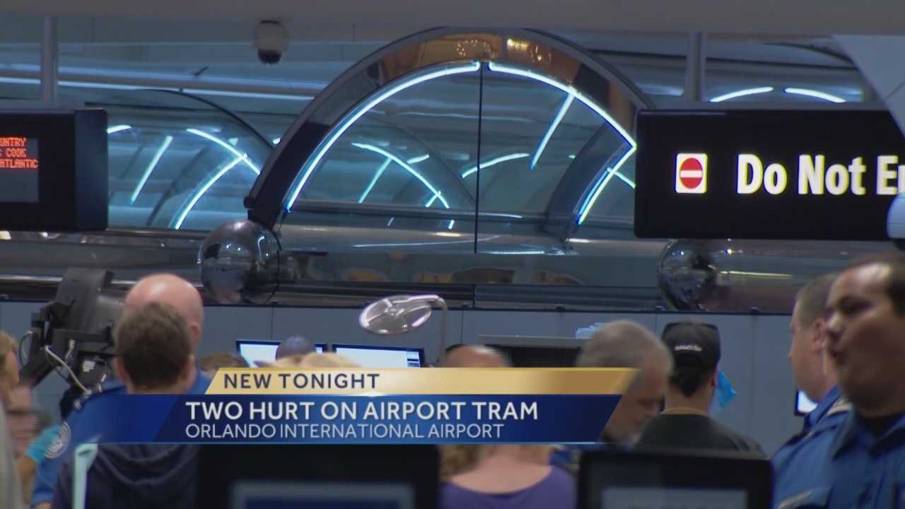 A mishap involving a tram at Orlando International Airport sends two people to the hospital. Chris Hush (@ChrisHushWESH) has the story.