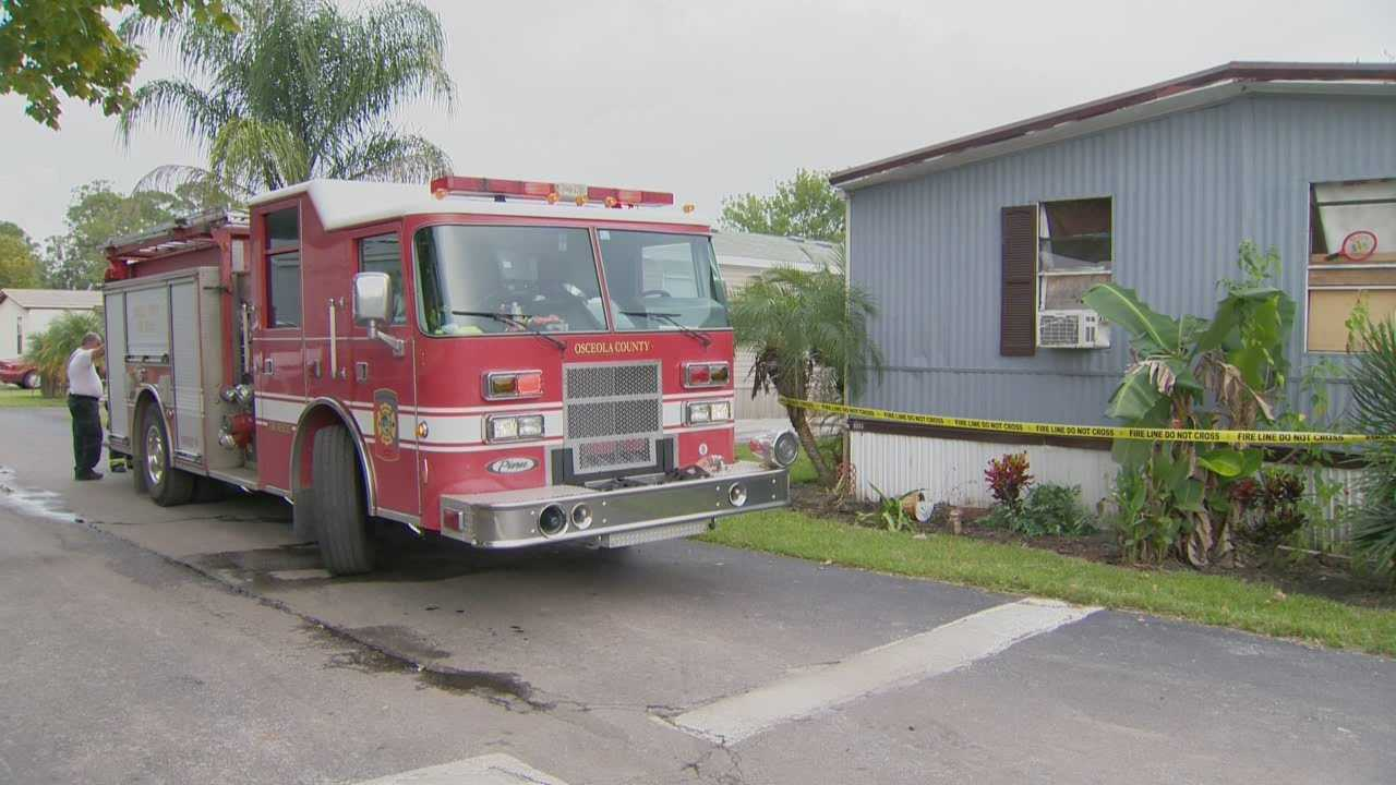 Five people are left homeless after flames destroyed their mobile home in Osceola COunty