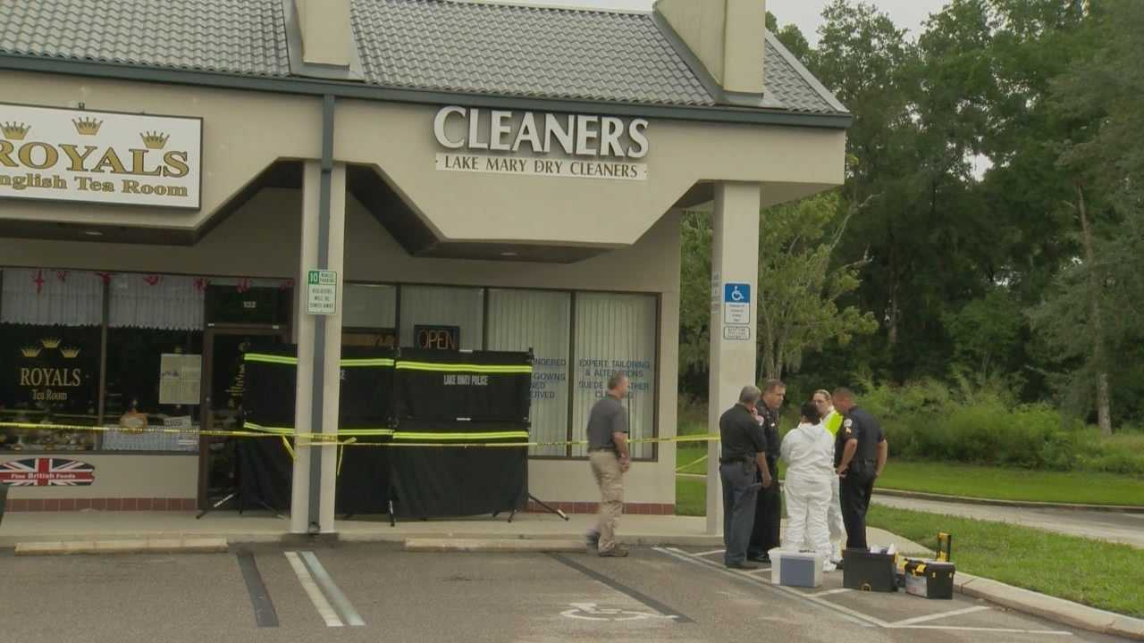 A longtime customer collapsed to the ground when she got the news that a woman was found dead inside the dry-cleaning business. Chris Hush (@ChrisHushWESH) has the story.
