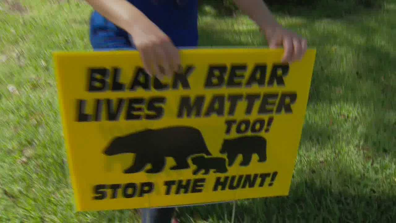 For more than a year, the Black Lives Matter movement has swept the nation. Thousands have spoken out, protesting the deaths of African Americans. Controversy surrounds signs meant to protest the upcoming bear hunt, but make a pun on the movement's name. Matt Grant (@MattGrantWESH) has the story.