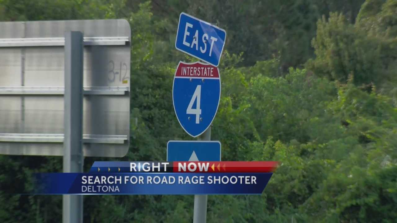 Road rage shooting on I4 in Deltona injures 1, shooter still on the loose