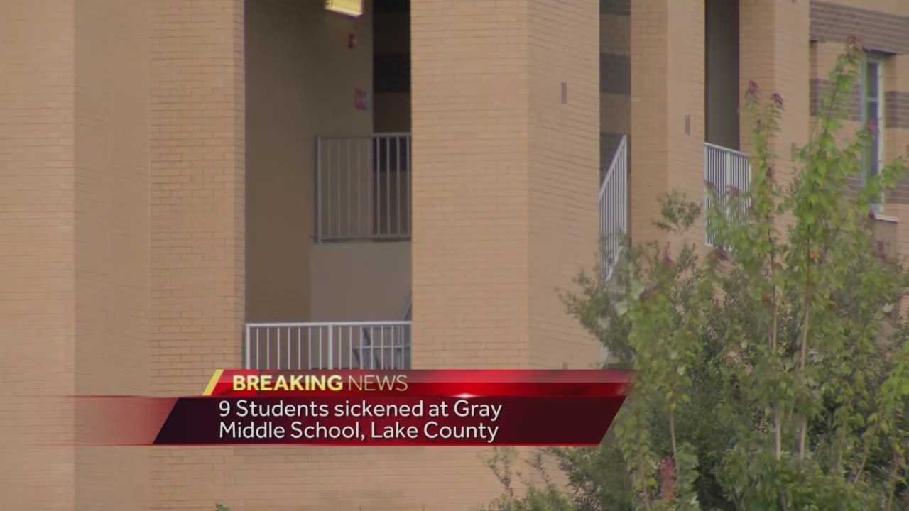 Nine students from Gray Middle School are being treated for respiratory issues and naseua. It may have been due to a strong smell of pesticides.