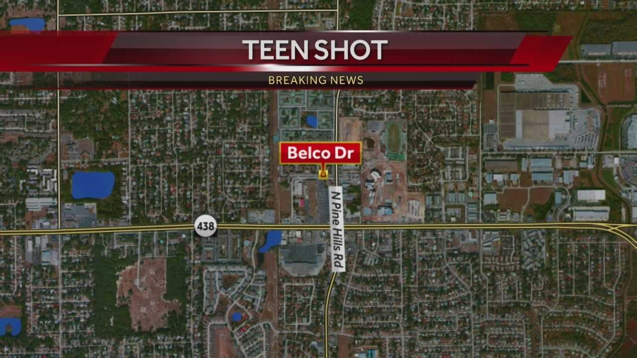 A teen was shot Monday night in Pine Hills, according to the Orange County Sheriff's Office.