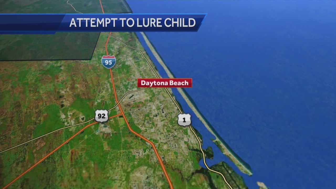 Daytona Beach police are searching for a man who dressed as a priest and then tried to lure a child into his van. Gail Paschall-Brown (@gpbwesh) has the story.