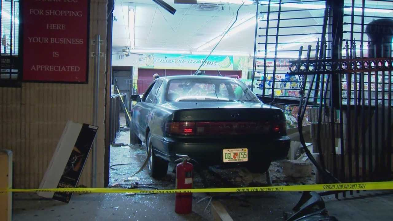 An Orange County store was left a mess after a vehicle crashed right through it. Police said it was no accident. Adrian Whitsett has the story.