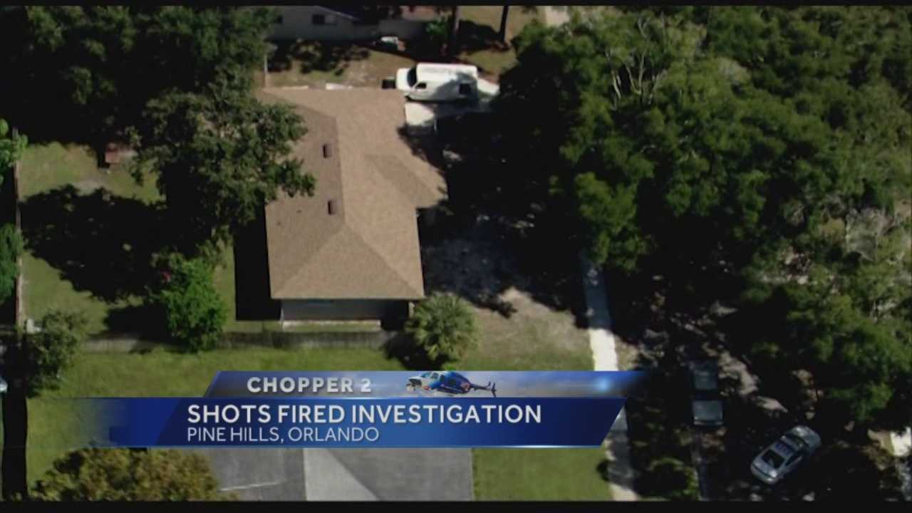 Orlando police are investigating a report of shots fired in Pine Hills. Witnesses said they heard 10 to 15 gun shots.