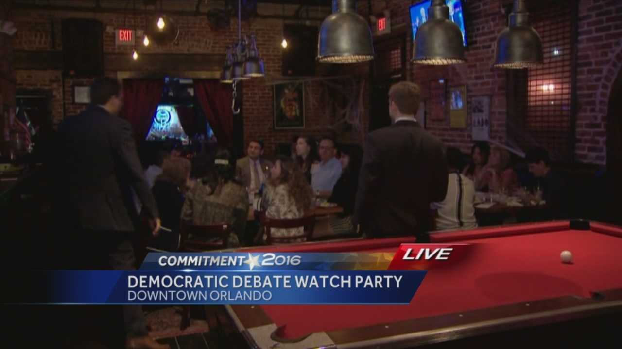 The first Democratic Presidential Debate was Tuesday night, and locals gathered at the Tiger Bay Club in Downtown Orlando where a watch party was held. Chris Hush (@ChrisHushWESH) has the story.