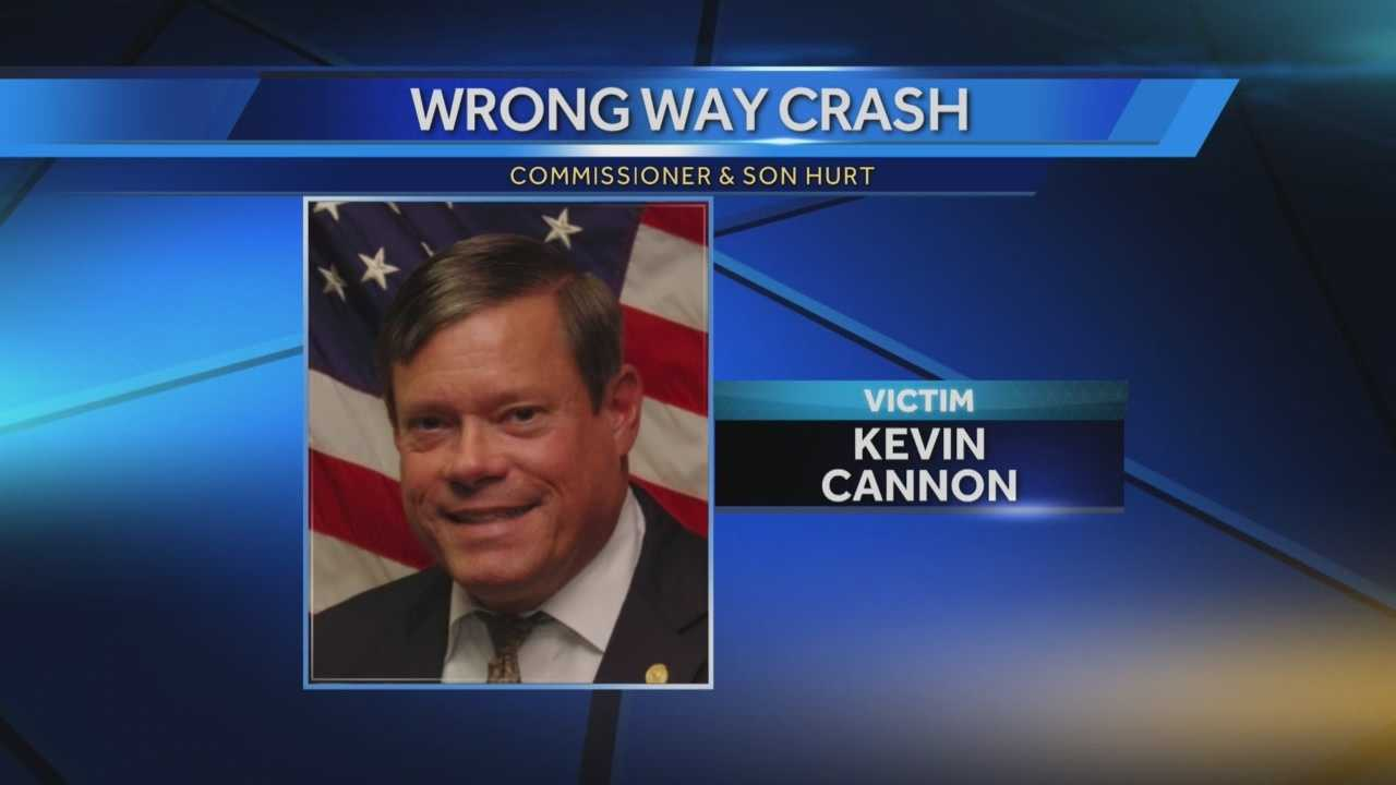 Winter Springs Commissioner Kevin Cannon is recovering Tuesday night after he and his son were hurt in a head-on crash on State Road 417 in Orange County Monday night.