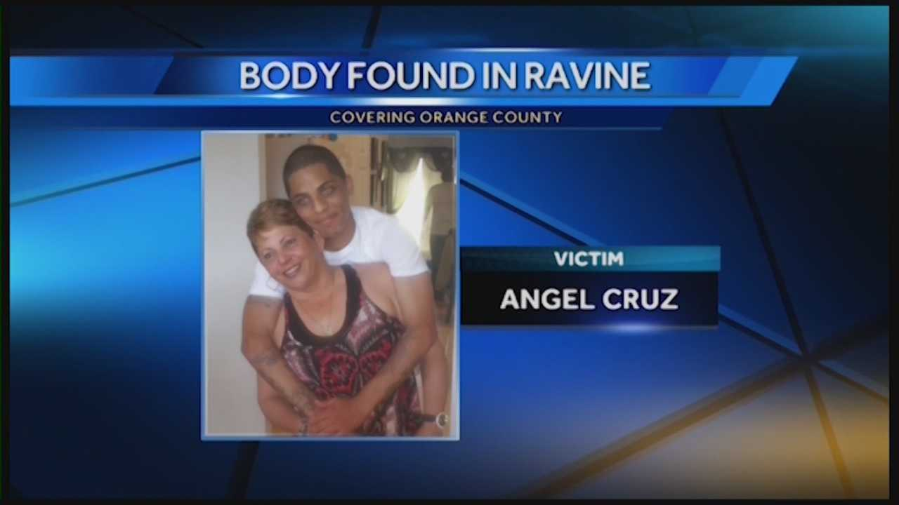 Investigators say Angel Cruz, who was found dead in a ravine near Apopka on Monday, was shot to death. The victim's family members are heartbroken. Michelle Meredith has the story.