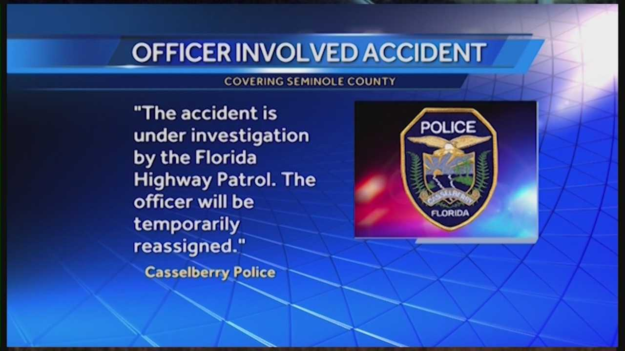 A Casselberry police officer has been temporarily reassigned after police say he struck and killed a pedestrian early Friday morning. Witnesses say the victim darted into traffic. Matt Grant has the latest update.