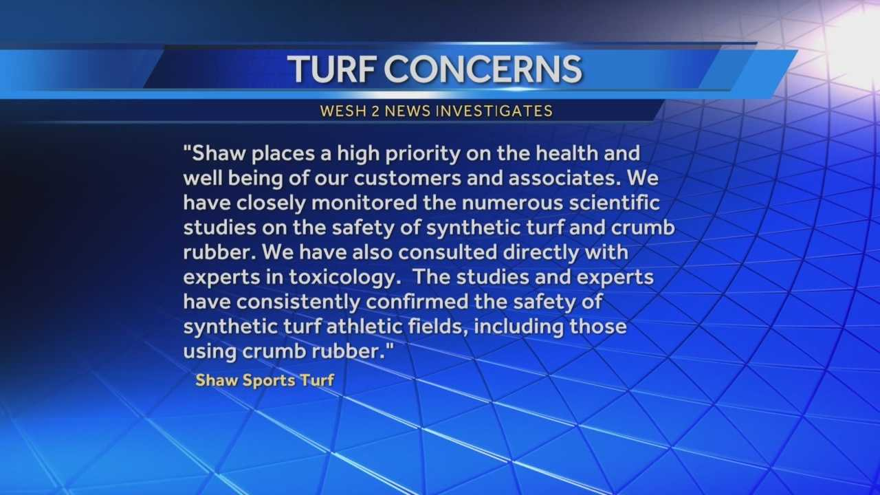 WESH 2 News is investigating a halt of construction at a multi-million dollar sports complex. Artificial turf was laid down on two of nine fields, but work has stopped over fears that the field could be harmful to your health. Matt Grant (@MattGrantWESH) has the story.