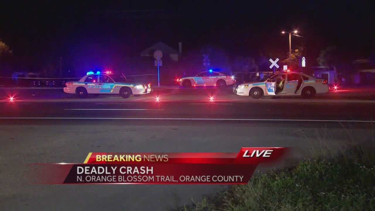 Orlando police responded the area of Orange Blossom Trail and Shader Road at 8:18 p.m. on a report that a vehicle struck a pedestrian who was walking a dog, police said. Summer Knowles has the story.