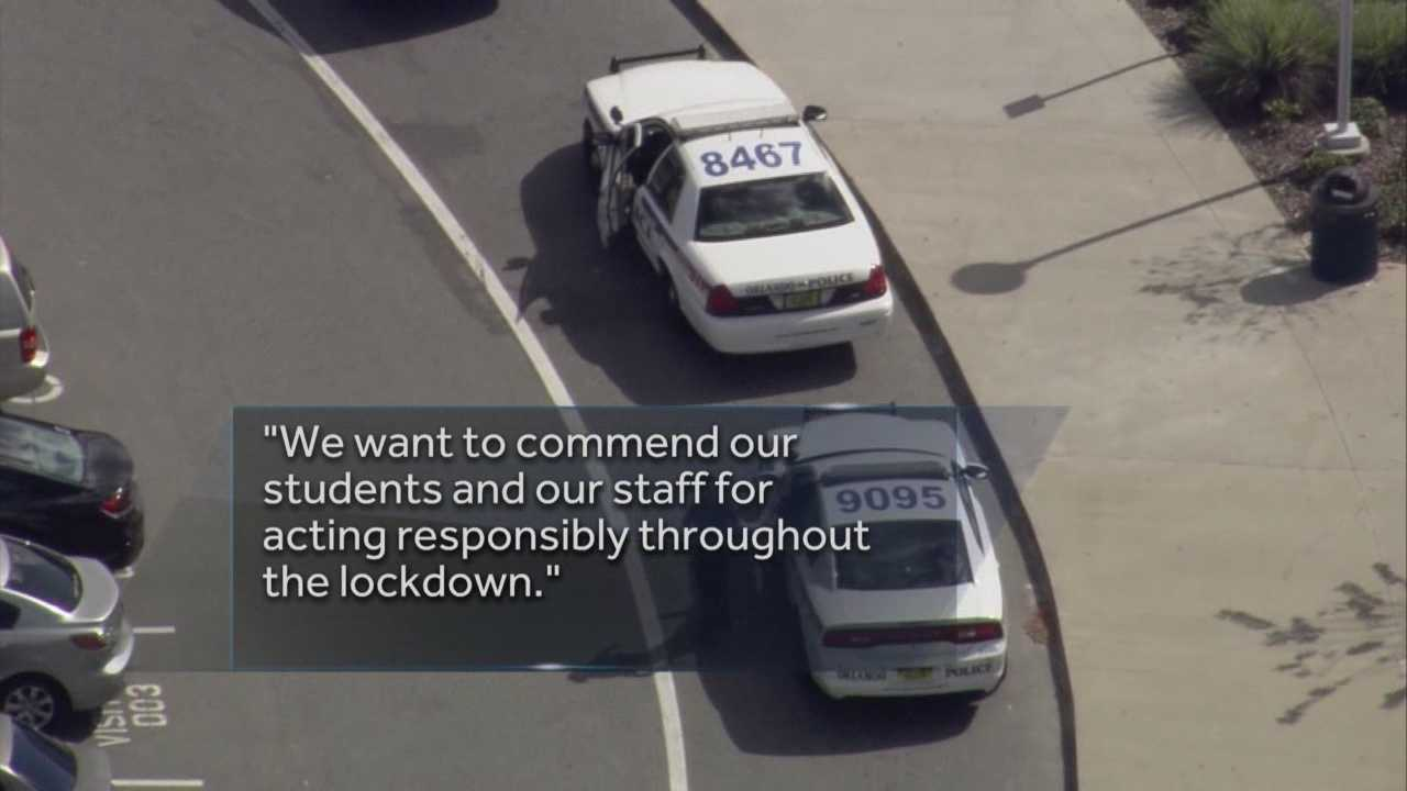 School officials said student reports of a gun on campus prompted a lockdown at Dr. Phillips High School on Wednesday. Gail Paschall-Brown (@gpbwesh) has the latest update.