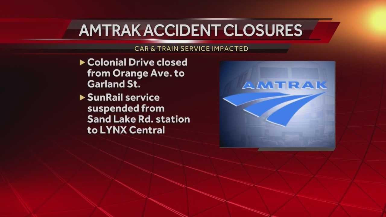 A pedestrian is dead after being struck by an Amtrak train on Colonial Drive. Matt Grant (@MattGrantWESH) has the latest update.