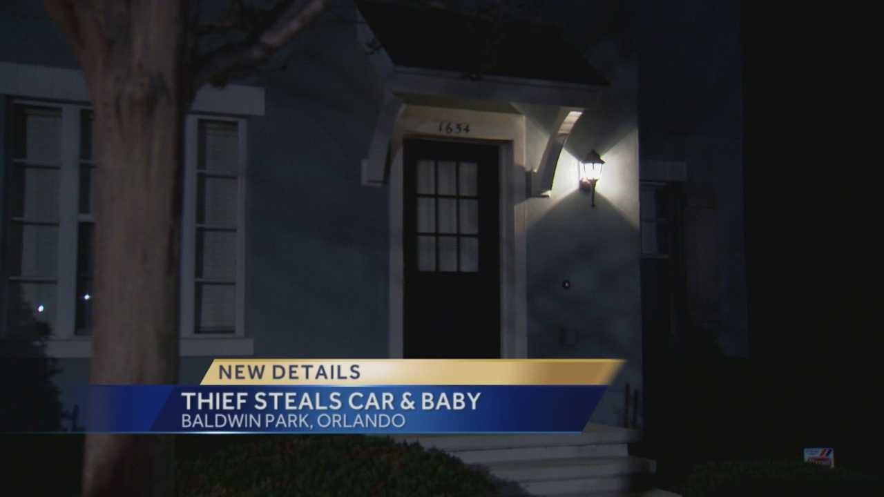 An Orlando mother is thankful to have her 15-month-old back. The child, along with the mother's car, was stolen in Baldwin Park Thursday night. Michelle Meredith (@MichelleWESH) has the story.